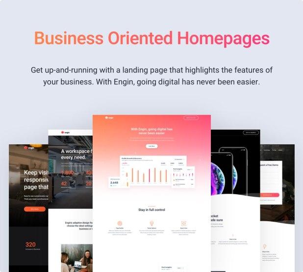Engin - Multipurpose Landing Page WordPress Theme - 4