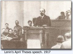 Lenin taler om April theserne, 1917