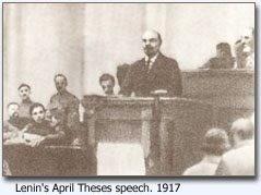 Lenin taler om April theserne, 1917