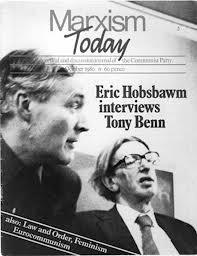 Forside fra Marxism Today, hvor Eric Hobsbawm interviewer Tony Benn.