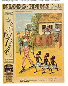 Illustration fra bladet Klods Hans No. 14, Januar 1917, Tegning af Alfred Schmidt