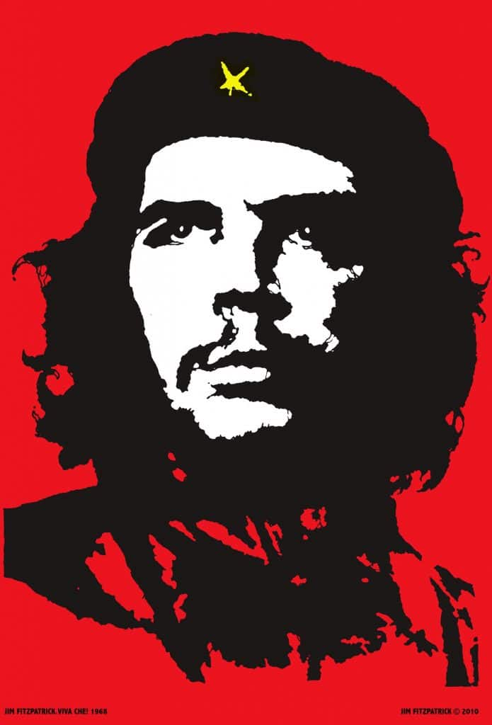 """In 1967 I was outraged by the manner of Che Guevara's execution while a prisoner of war in Bolivia and it led me to create this now world-famous image."" This version of the iconic picture of Che Guervara i made by the Irish artist Jim Fitzpatrick. © Jim Fitzpatrick"