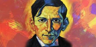 Portrait of José Carlos Mariátegui by Bruno Portuguez Nolasco. Source: https://www.leftvoice.org/jose-carlos-mariategui-latin-american-communism-and-the-russian-revolution