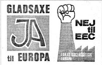 Plakater ved afstemningen 2. oktober 1972