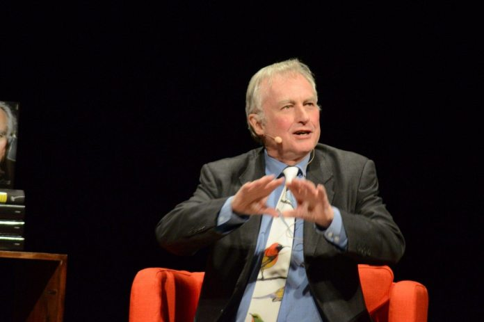 Richard Dawkins on stage in Stockholm. 12. December 2015. Source: Own work. Photo: Anders Hesselbom. Public Domain
