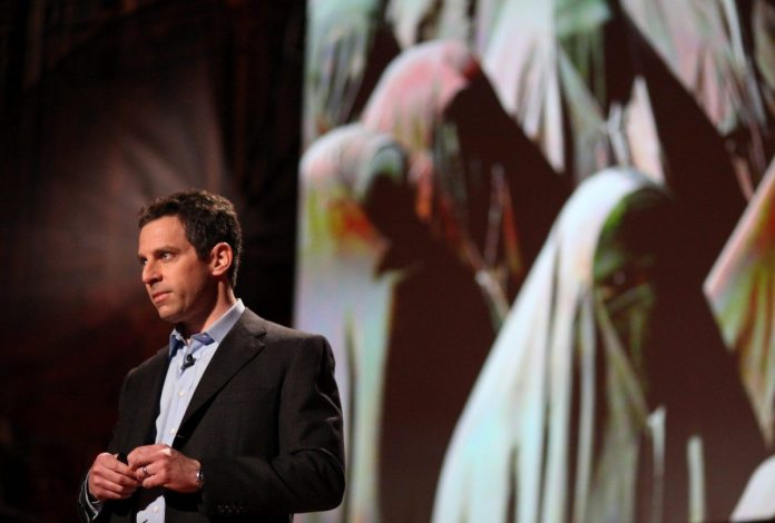 Sam Harris speaking 11 February 2010. Source: https://www.flickr.com/photos/jurvetson/4456174654/ Photo: Steve Jurvetson. (CC BY 2.0)