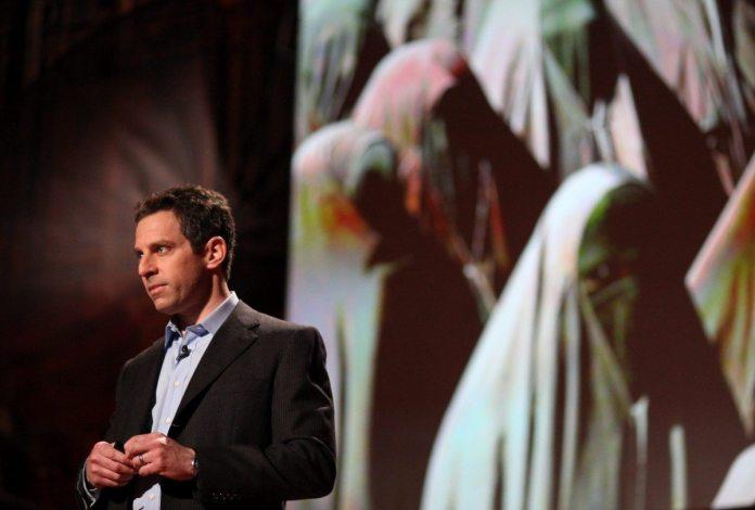 Sam Harris speaking 11 February 2010. Source: https://www.flickr.com/photos/jurvetson/4456174654/ Photo: Steve Jurvetson. (CC BY 2.0)