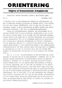 1. side af Orientering nr. 1. 1963