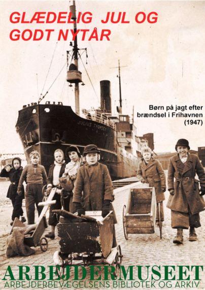 Børn på jagt efter brænde i Frihavnen 1947