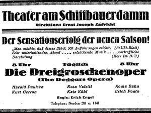 Reklame for Die Dregroschenoper