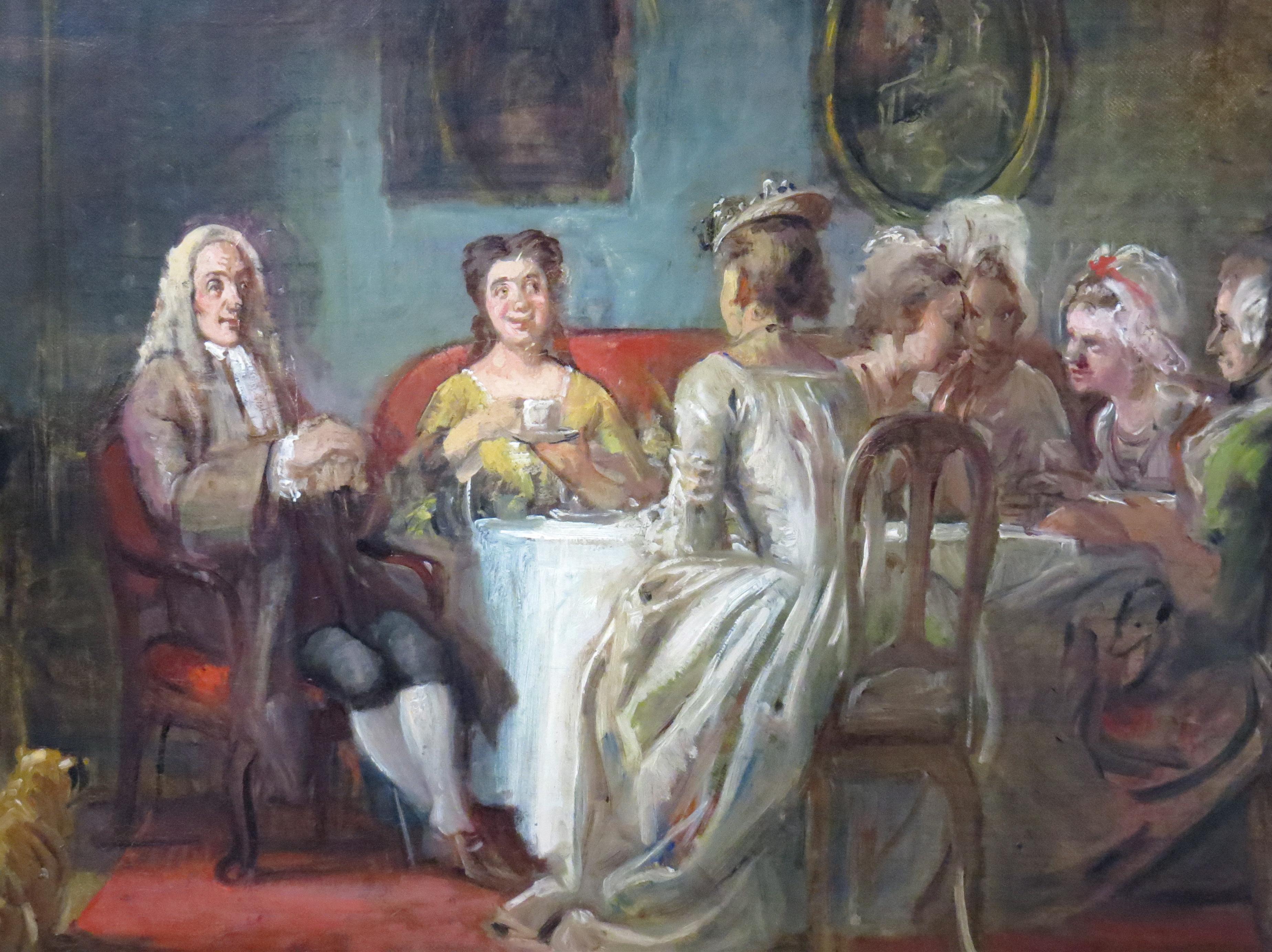 Udsnit af Holberg i kaffeselskab hos madame N.N., maleri fra ca. 1866 av Wilhelm Marstrand (1810-1873], Den Hirschsprungske Samling, København. Foto: Orf3us, august 2014.
