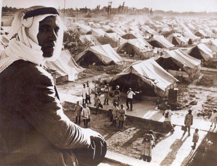 Lejr for fordrevne palæstinensere.