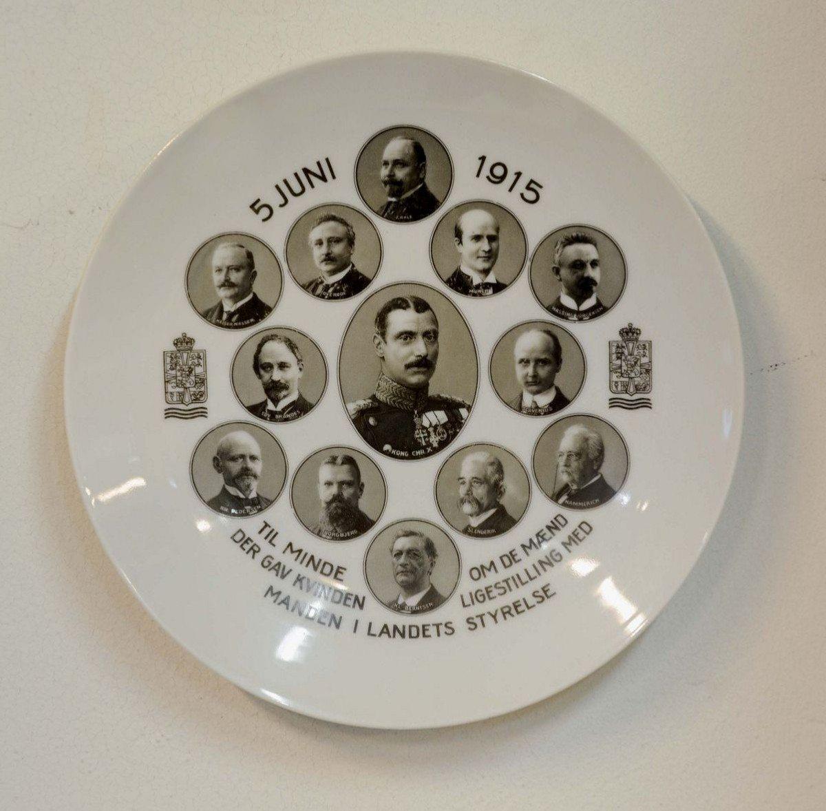 Den officielle kongelige platte.
