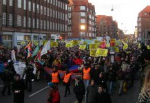 COP15 demonstration 12 december moving towards the Bella Centre. Source: Own work, Photo: Pechke. Public Domain.