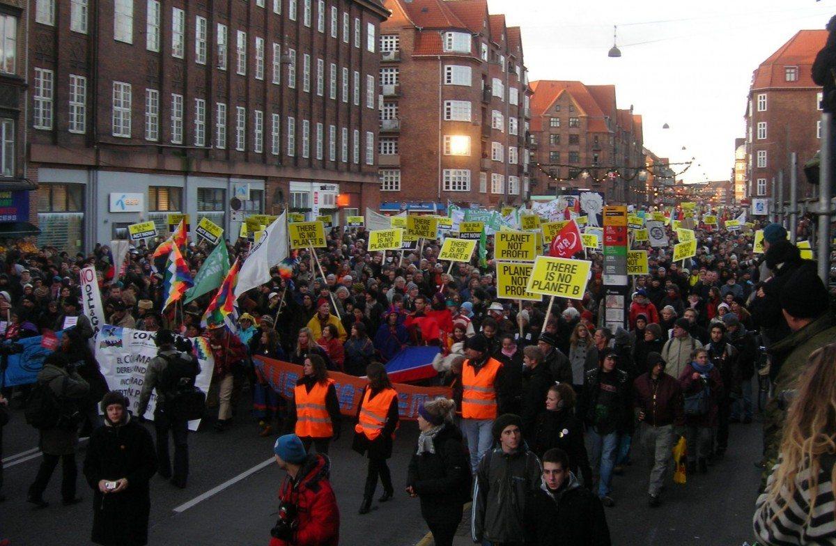 COP15 demonstration 12 december moving towards the Bella Centre. Source: Own work, Photo: Pechke. Public Domain.