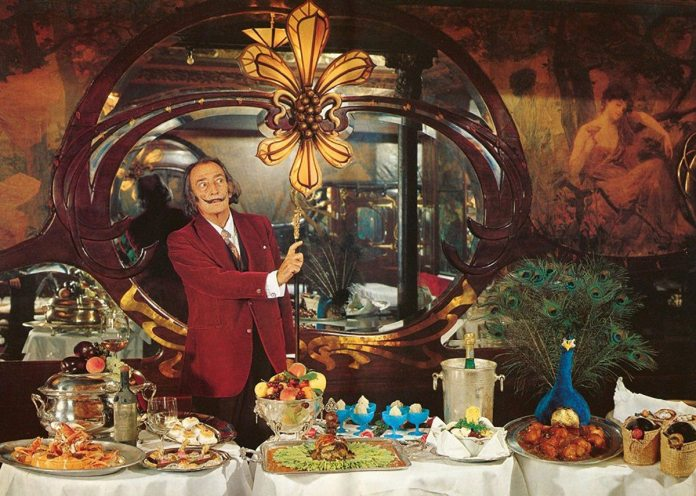 Hosting the Perfect Surrealist Dinner Party - Salvador Dalí, 1973. Source: Dalí's exotic 1973 cookbook Author. Source: Wikimedia Commons