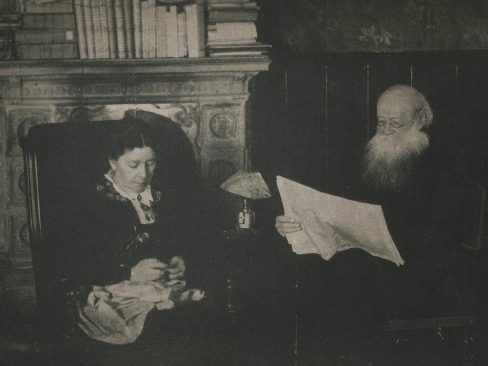 P.A.Kropotkin and his wife Sophia Grigorievna in their Dmitrov house