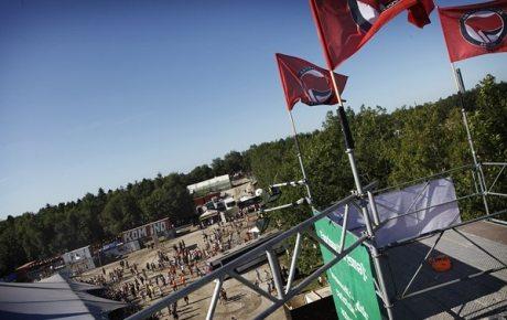 Udsigten fra Anti Fascistisk Aktions flagtårn. Foto: Mark Knudsen.