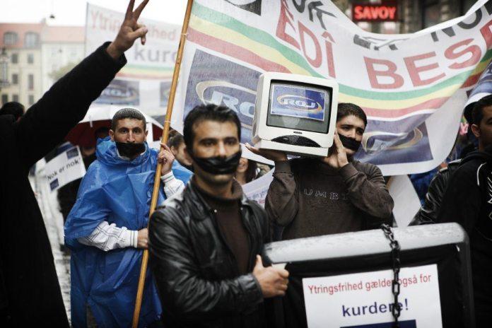 Fra demonstration 10 januar 2012 i forbindelse med dommen Foto: Mark Knudsen