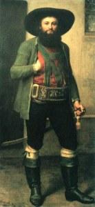 Andreas Hofer, maleri på lærred af ukendt kunstner fra midten af det 19. århundrede. Tiroler Kaiserjägermuseum, Innsbruck.