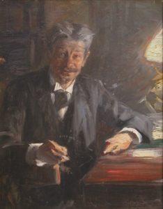 Georg Brandes -Skitse til maler af P.S. Krøyer