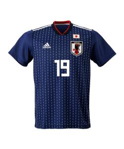 サッカー日本代表 サムライブルー ユニフォーム 背番号「19」