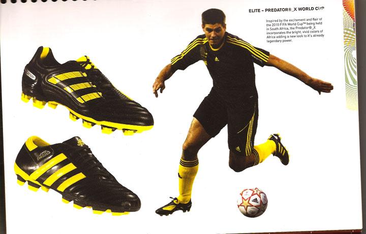 Gerrard in Predator_X 'World Cup'  + adiPURE III schwarz-gelb