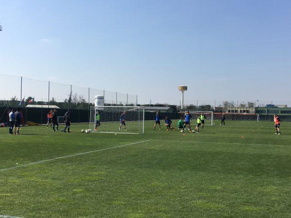 Training at Atalanta B.C.