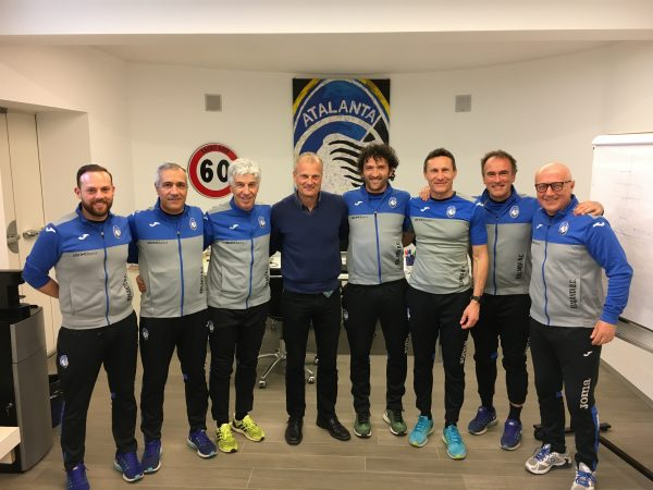 The coaching staff of Atalanta B.C.