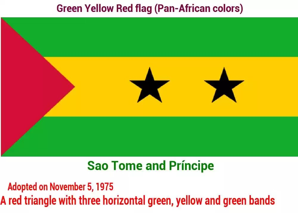 drapeau vert jaune et rouge