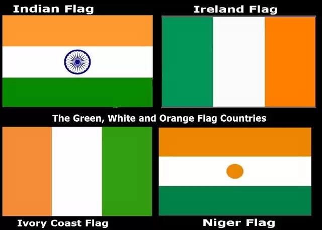 drapeau vert blanc et orange pays