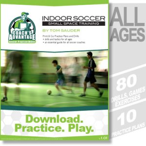 Indoor Soccer. All ages. 80 drills. 10 practice plans.
