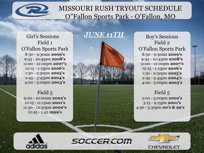 2017 Missouri Rush tryouts