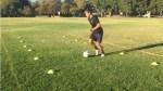 Soccer Cone Training Drill