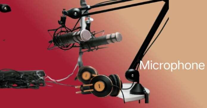 माइक्रोफोन आवाज रिकार्ड करने का इनपुट यंत्र.