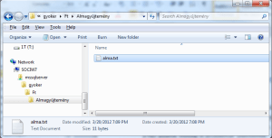 File Table in Windows Explorer