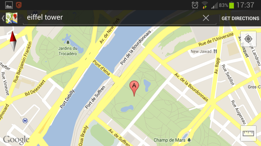 How to easily find any location s coordinates with the Google Maps     Google maps Eiffel Tower