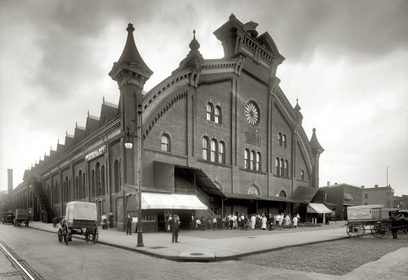 Designed by James H. McGill, opened in Jan 1875 - ca 1920, National Photo Company, via shorpy http://www.streetsofwashington.com/2010/09/washingtons-first-convention-center.html