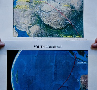 MH370 - possible routes