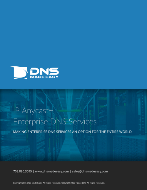 DNS Made Easy Sales Brochure