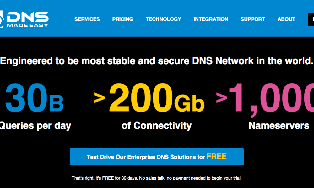 New DNS Made Easy Site