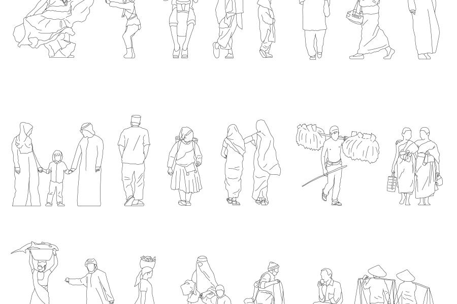多民族人物插画素材