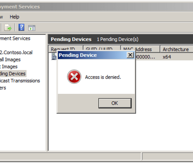 To Resolve This Grant The Computer Account Of The Wds Server Rights To Create Computer Objects In The Computers Container In The Active Directory The