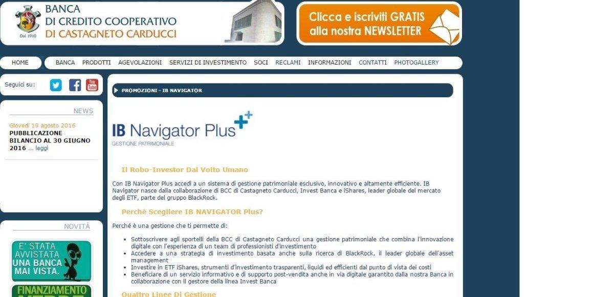 bcc-castagneto-carducci Robo Advisor