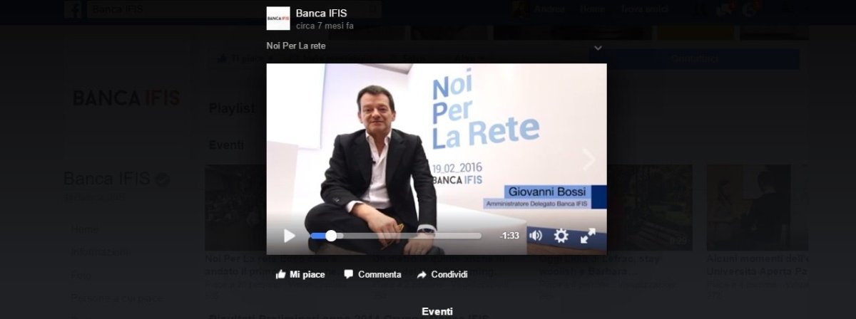 banca ifis evento in rete