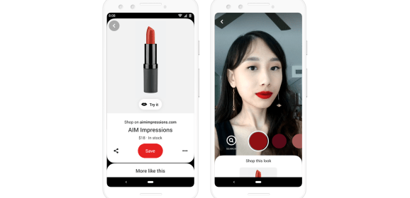 Pinterest now allows you to virtually try on lipsticks from popular brands