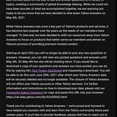 Yahoo pulls the plug on Yahoo Answers