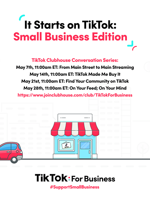 tiktok for business clubhouse