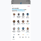 Twitter's Spaces makes hashtags in title clickable