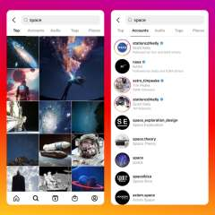 Instagram's new search system now shows suggestions for photos and videos